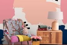 Wall Décor | PAINT EFFECTS / Wall murals that look like watercolor & paint