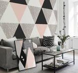 Wall Décor | GEOMETRY / Geometric wall murals, decals & posters by PIXERS