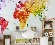 Wall Décor | MAPS / Maps on wall by PIXERS