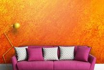 Orange / Orange, positive, juicy energy. A color that evokes laughter and warm memories of the setting, summer sun. The patterns in this color are happy, they bring about a positive mood and stimulate you to act An ideal alternative for beiges that warm the interior and vivid yellow that brings character to every interior.