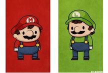 Super Mario Bros. /// / The best designs, illustrations, images, products, etc. featuring /// Mario /// / by Torrey Anderson