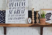 • Home • / Fun ideas for the spaces we sit in now!  / by Kimberly Sapko