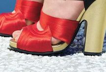 Chunky Heels / Heels with heft. Stacked heels and other soles for urban trotting.