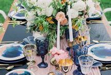 Tabletop / Wedding reception tablescape ideas.
