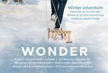 Wonder: January 2015 / Learning to love January is not so hard. There is comfort in a duvet day, scotch eggs and gathering around the kitchen table. Pull on your boots to watch storms, play in the snow or hide in the greenhouse, hot coffee at your side. We've found fitness crazes to make you laugh, winter greens to make you feel good and weekend projects sure to satisfy. A contented new year begins with The Simple Things.