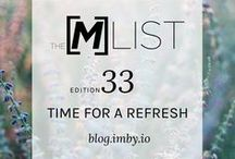 t m l / TheMList is our weekly curated email digest to help busy, on-the-go women reduce physical and emotional clutter.