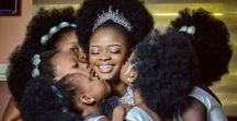 WEDDING- HAIR INSPIRATION / Beautiful black brides with amazing natural hair.