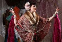 1920's flapper fashion / 1920's 1930's flapper fashion, dresses, kimonos, headdresses