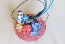 Fruity birds fascinators. / A selection of hats including Talulahblue hats and fascinators featuring birds, flora and fauna, available at.. www.talulahblue.etsy.com