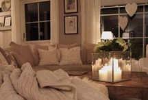 LIVING ROOM INSPIRATION / Living Room Interior Inspiration. Including comfy sofas, statement fireplaces, gallery walls and cosy corners.