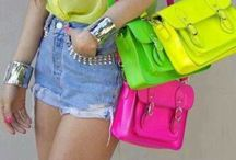 NEON / Bright neon clothes, fashion, accessories and other goodies to catch your eye.