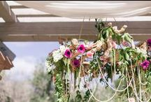 Romantic Garden Wedding / We love how Jessica and Darrell were inspired by Anthropologie. Their wedding wedding embraced the natural beauty of Rancho Valencia with an added punch of color and sparkle.  #SanDiegoWedding #BlissEvents #DestinationWedding #Pink #Gold #Anthropologie #Sweet #Romantic #RanchoValencia