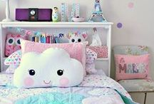 Dream Home-Big Girl Bedroom / For the older girl, a sweet but classically themed room that will see her into the teen years