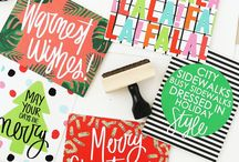 Christmas Cards, Wrapping Paper, Recipes, and Decor! / Everything from Christmas cards, holiday gift tags, wrapping tips, and Christmas decorations!
