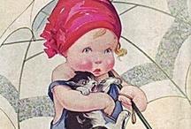 Vintage-y Illustrations / Old, vintage, and antique postcards and illustrations.