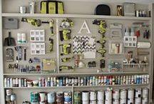 Dream Home - Garage / Organizing storage in the garage.