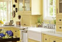Dream Home - Kitchen / Ideas for streamlining and organizing in addition to adding beauty to a room where so much time is spent.