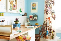 Dream Home - Craft Space / A beautiful and organized space for crafting, sewing and creating.