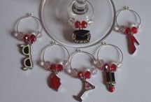 Wine Glass Charms / Wine glass charms are a clever way of keeping track your wine glass at a social gathering such as a wedding, christening, baby shower, hen night, girls night in/out, dinner party, birthday party and many more... www.michelleshandcraftedjewellery.com