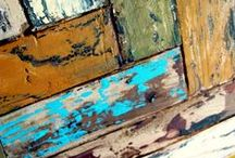 Liquid Gold Salvaged Wood / *Thank you Scott's Liquid Gold for choosing my board as a Winner* Back in the 1970s my dad had many DIY projects in our home made from salvaged wood. Of course at that time, it was simply being frugal and now it's chic! I adore the look and have incorporated many pieces in my own home (thanks for the DIY inspiration, Dad!).