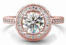 Zásnubné prstene ružové zlato / Zásnubný prsteň s diamantom ružové zlato 14 karátové