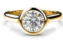 Zásnubné prstene žlté zlato / Zásnubný prsteň s diamantom žlté zlato 14 karátové
