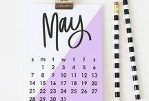 2018 Calendars, Planners, and Organization / 2017 wall calendar and desk calendars!