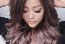 Ombre Balayage Hair / With Dark Roots