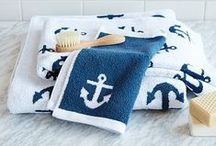 Nothing but Nautical / Nautical design and decor | white and navy | anchors | stripes