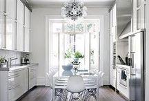 { WHITE KITCHENS } / clean fresh modern sleek white kitchens