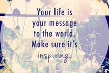 Inspirational Words / Quotes and images for daily affirmations, positive infusion, and infectious joy