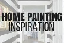 Home Painting Ideas Interior / Home painting ideas that are sure to inspire. Stenciled walls, striped walls, hand painted walls, accent walls, murals, planked walls, driftwood walls, brick walls, faux painted walls, chalkboard walls, how to paint your walls, professional paint job. #paint #painting #paintonwalls #accentwall #stripes #chalkboardwall