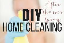Home Cleaning Tips / Learn how to make your own household cleaning products the natural way. This is a great thing to know if you have kids or pets. These products will clean and keep your loved ones safe! #diy #bathroom #housekeeping #cleanyourhome #diycleaningproducts #airfreshener #tips #whitevinager #showerdoors #lifehacks #simplecleaningtips #floorcleaning #DIYcrafts #bakingsoda