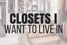 Closet Ideas / My dream has always been to have a huge walk in closet that I can sprawl out it. I think that getting ready in the morning would be much more fun in a luxurious closets like these on this board. #closetinspo #closetinspiration #closetideas #closetdecor #bigcloset #luxuriouscloset #walkincloset #largecloset #closetorganization