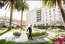 Real wedding: The Fairmont SF / Design and planning by the lovely + talented Christie Rose Events ●  Chuppah and rentals by our fabulous friends at Blueprint Studios ●  Luxurious linens by La Tavola Fine Linen ●  Floral Design by Soulflower Design Studio