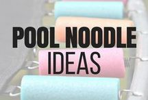 Pool Noodle Ideas / We have learned that pool noodles have so many more uses than just for floating on in our backyard pool. Check out the many creative uses for pool noodles that will make your life easier. These dollar store pool noodle ideas are budget-friendly and genius! #poolnoodle #poolnoodleprojects #poolnoodlediy #poolnoodlehack repurpose #dollarstore #diycrafts #diyhomedecor #homedecorideas #homedecor