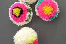 B O N P O M S / We LOVE a pompom or two! Inspirational pompoms and Bonpoms of our own to share with you.