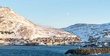 Honningsvåg,  Norway / Honningsvåg is the northernmost city in Norway and maybe the world but this is disputed by several places such as Barrow, Alaska.