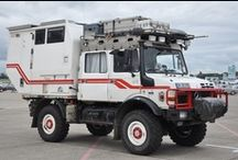 Camper: Big and tough RV's / Truck or 4wd cars with bed on top.