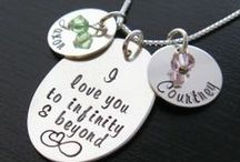 Wickedly Mod hand stamped jewelry / Wickedly Mod's hand stamped jewelry.  Most items are converting to beautiful laser engraved.