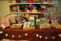 Craft Fair / Ideas for display, decoration, and preparation for a craft fair or street fair booth.