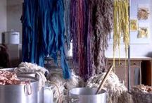 Yarn Studio / Dyeing yarn and fabric, yarn studios ideas, colors and inspiration.