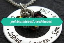 personalized necklaces / Sterling silver necklaces designed by Wickedly Mod - personalized by customers