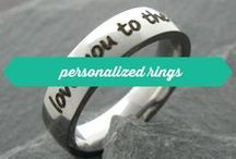 personalized rings / Personalized stainless steel rings - engraved