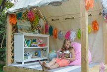 Outdoor fun for kids / Cool ideas of areas to make for your kids or things you can do for them