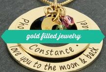 gold filled jewelry / Wickedly Mod's gold filled jewelry designs