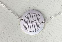 initial necklaces / Monogram and initial necklaces available with Wickedly Mod