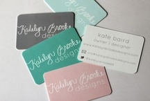 business cards / by Kate Baird