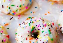 yum donuts girl! / sprinkled, sugared, frosted and gorgeous we're nuts for donuts!