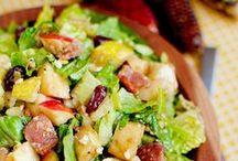 food : salads + dressing